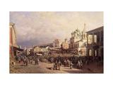 Market in Nizhny Novgorod Giclée-Druck von Pyotr Petrovich Vereshchagin