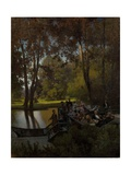 Luncheon in the Park Giclee Print by Pyotr Alexandrovich Sukhodolsky