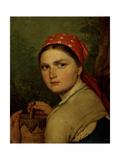 A Peasant Girl Giclee Print by Alexei Gavrilovich Venetsianov