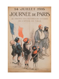 Journee De Paris. 14 Juillet 1916 Giclee Print by Francisque Poulbot