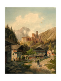 Alpine Landscape With a Castle Giclee Print by Ferdinand Gatt
