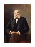 Portrait of the Author Ivan Goncharov (1812-1891) Giclee Print by Nikolai Alexandrovich Yaroshenko