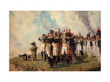 Napoleon Bonaparte on the Borodino Hights Giclée-tryk af Vasili Vasilyevich Vereshchagin