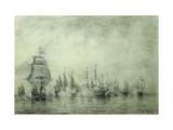 First Naval Battle. Naum Senyavin Giclee Print by Alexei Petrovich Bogolyubov