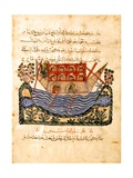 A Ferry (Folio From An Arabic Translation of the Materia Medica Gicléetryck