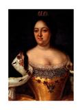 Portrait of Empress Anna Ioannovna (1693-1740) Giclee Print by Johann-Heinrich Wedekind