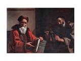 Diogenes And Plato Giclee Print by Mattia Preti