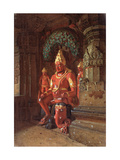 A Vishnu Statue in the Indra Temple Giclee Print by Vasili Vasilyevich Vereshchagin