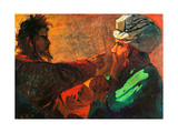 Christ And Nicodemus (Study) Giclee Print by Nikolai Nikolayevich Ge