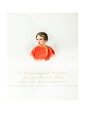 Portrait of Tsarevich Nicholas Alexandrovich of Russia (1843Ð1865) Giclee Print