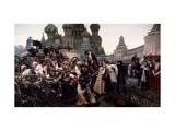 Morning of the Strelets' Execution Giclée-Druck von Vasili Ivanovich Surikov