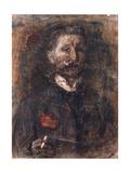 Self-portrait Giclee Print by Mikhail Alexandrovich Vrubel