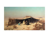 Arabs in the Desert. Koran Study Giclee Print by Vasili Vasilyevich Vereshchagin