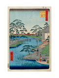 Mokuboji Temple And Vegetable Fields on Uchigawa Inlet (One Hundred Famous Views of Edo) Giclee Print
