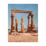 An Egypt Temple Ruin Giclee Print by Vasili Vasilyevich Vereshchagin