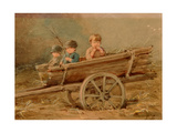 Children in a Telega Giclee Print by Elizaveta Merkuryevna Bem