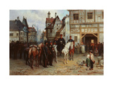 General Blucher With the Cossacks in Bautzen Giclee Print