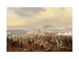 The Battle of Leipzig in October 1813 Giclee Print by Gottfried Willewalde