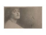 Study for 'l'Offrande' (The Offering) Giclee Print by Fernand Khnopff