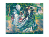 The Walk in Park Giclee Print by Charles Guerin
