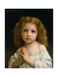 Little Girl Giclee Print by William Adolphe Bouguereau