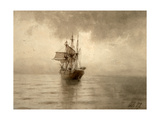 Sailing Ship Giclee Print by Lev Felixovich Lagorio