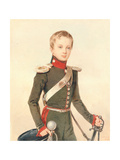 Portrait of the Crown Prince Alexander Nikolayevich (1818-1881) Giclee Print
