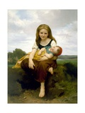 The Elder Sister (La Soeur Ainee) Reproduction procédé giclée par William-Adolphe Bouguereau