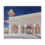 The Throne Hall of the Mughal Emperors in the Delhi Fort Giclee Print