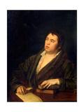 Portrait of the Poet Ivan A. Krylov (1769-1844) Giclée-Druck von Roman Maximovich Volkov
