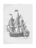 Russian Ship of the Line 'Poltava' (1712) Giclee Print