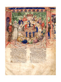 The Knights of the Round (Miniature From La Quete Du Saint Graal Et La Mort D'Arthus) Giclee Print
