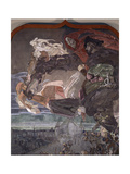 The Flight of Faust And Mephistopheles Giclee Print by Mikhail Alexandrovich Vrubel
