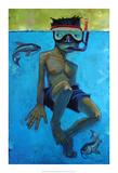 Fische Kunstdruck von Aaron Jasinski