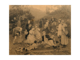 Landowner Tea Party Giclee Print by Nikolai Dmitrievich Dmitriev-Orenburgsky