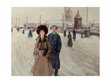 From the School (Series 'Petrograd Life') Giclee Print by Mikhail Abramovich Balunin