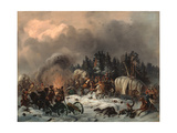 Scene From the Russian-french War in 1812 Giclee Print by Gottfried Willewalde