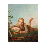 Shepherd Boy With a Pipe Giclee Print by Alexei Gavrilovich Venetsianov
