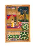 Sita Shies Away From Hanuman, Believing He Is Ravana in Disguise. (Miniature From the Ramayana Giclee Print