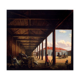 Stagecoach Station Giclee Print by Alexandra Alexeyevna Venetsianova