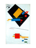 Suprematist Painting (Black Trapezoid And Red Square) Giclee Print