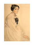 Portrait of Ksenia Nikolayevna Semenova (Skalova) Giclee Print by Boris Kustodiyev