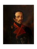 Portrait of the Poet Mikhail Lermontov (1814-1841) Giclee Print by Nikolay Ivanovich Polivanov