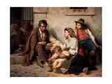 Family Visiting a Prisoner Giclee Print by Vasili Petrovich Vereshchagin