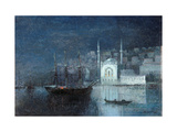 Constantinople by Night Giclee Print by Ivan Konstantinovich Aivazovsky