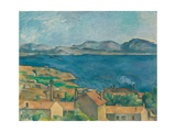 The Bay of Marseilles, Seen From L'Estaque Giclee Print by Paul Cézanne