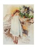 A Little One Giclee Print by Sergei Arsenyevich Vinogradov