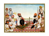 Thakur Dawlat Singh Among Courtiers Giclee Print by  Ghulam Ali Khan