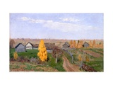 Golden Autumn. Slobodka Giclee Print by Isaak Ilyich Levitan