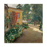 In a Country Estate Giclee Print by Sergei Arsenyevich Vinogradov